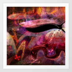 Elements IV - A Confluence of Apparitions Art Print