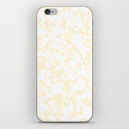 Spots - White and Cornsilk Yellow iPhone Skin
