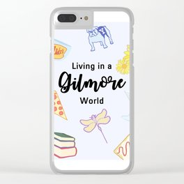 Living in a Gilmore world Clear iPhone Case