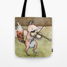 Violin Fox Tote Bag