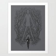 Always Watches - NO EYES Art Print