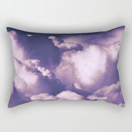 Violet Clouds Rectangular Pillow