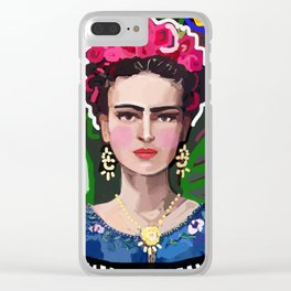 Graphic Frida Clear iPhone Case