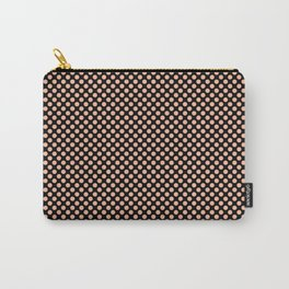 Black and Prairie Sunset Polka Dots Carry-All Pouch