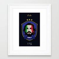 pirlo Framed Art Prints featuring Pirlo by Rudi Gundersen