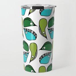 Green Dive-Plongeon vers- birds 2 Travel Mug