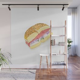 Everything Bagel Wall Mural