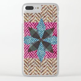 Tweed star Clear iPhone Case