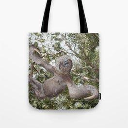 Sloth, A Real Tree Hugger Tote Bag