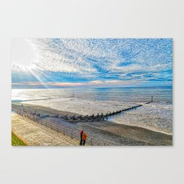 Watching The Sea Canvas Print