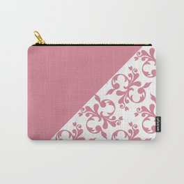 Blush Victorian Diagonal Block Pattern Carry-All Pouch