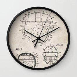Football Helmet Patent - Football Art - Antique Wall Clock