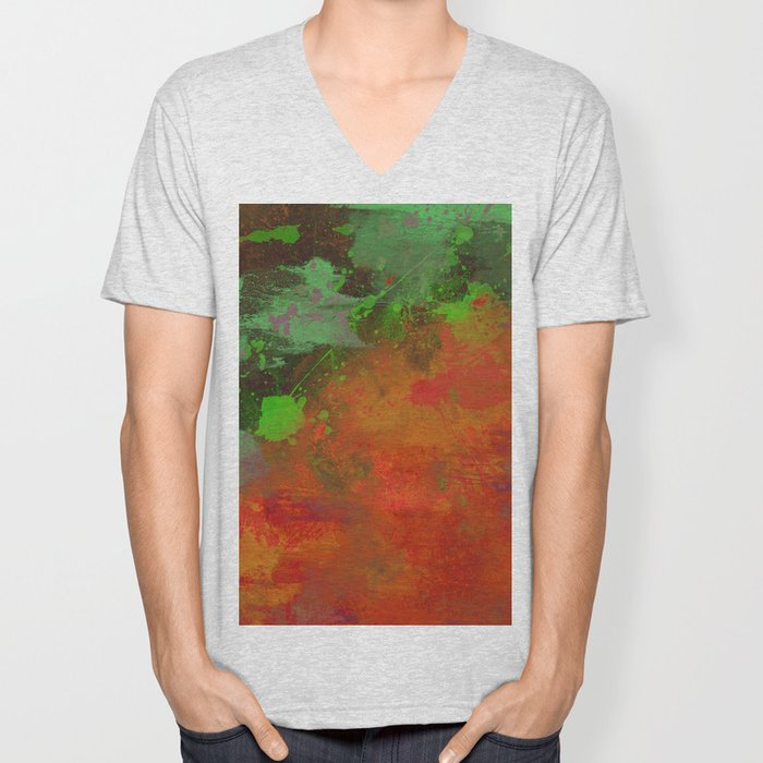 A Difference Of Opinion (Abstract painting) Unisex V-Neck