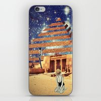 pyramid iPhone & iPod Skins featuring Pyramid by Cs025