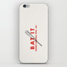 Bat it - Zombie Survival Tools iPhone Skin