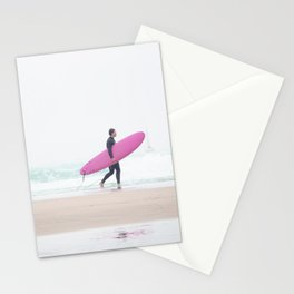 surfing beach vibes Stationery Cards