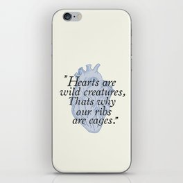 Wild hearts iPhone Skin