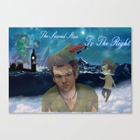 larry stylinson Canvas Prints featuring Larry Stylinson-Peter Pan  by MADEINTHEAM