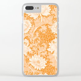 "William Morris ""Chrysanthemum"" 3. Clear iPhone Case"