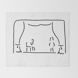 actor theatre stage Throw Blanket