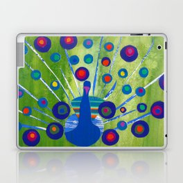 Polka dot peacock Laptop & iPad Skin