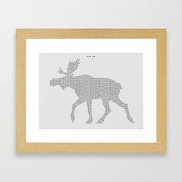Moose Code Framed Art Print