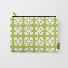 Mid Century Modern Star Pattern Chartreuse 552 Carry-All Pouch