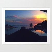 Jamacain Sunset Art Print