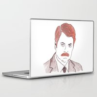 ron swanson Laptop & iPad Skins featuring Ron Swanson  by nicoleskine