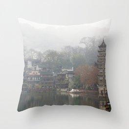 China's ancient town Throw Pillow