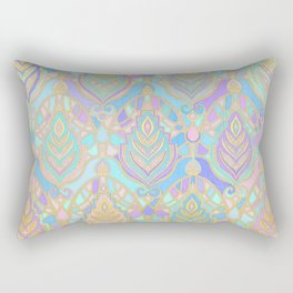 Jade & Blue Enamel Art Deco Pattern Rectangular Pillow