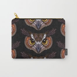 Great Horned Owl Head Carry-All Pouch