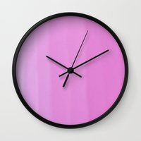 ombre Wall Clocks featuring Ombre by Manuela Hardy