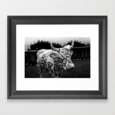 Skull Cow Framed Art Print