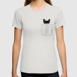 Pocket French Bulldog - Black T-shirt