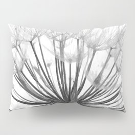 Black and White Dandelion Pillow Sham