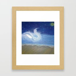 Making my own wave baby Framed Art Print