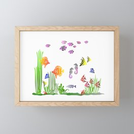 Aquarium colorful Fish Framed Mini Art Print