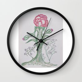 Flor De Fantasias Carnation Wall Clock
