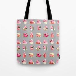 Rosa food collage grey Tote Bag
