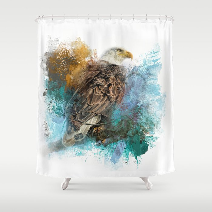Expressions Bald Eagle Shower Curtain