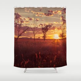 As the Sun Sets in the Heartland Shower Curtain