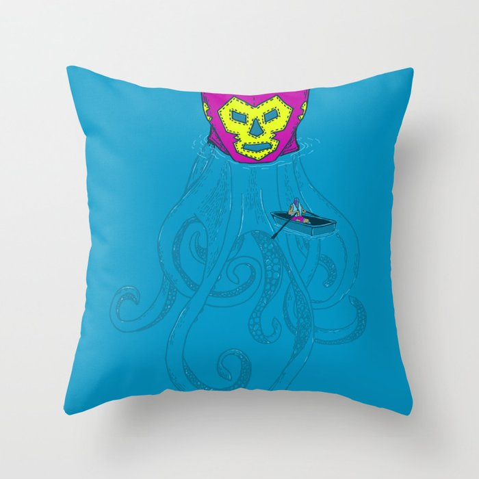 Trolling for a fight Throw Pillow