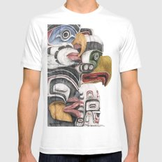 Stanley Park Totems Mens Fitted Tee White MEDIUM