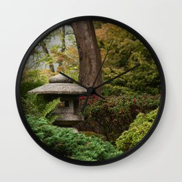 Japanese Tea Gardens, San Francisco, Travel Photography, California Home Decor, Zen Art Wall Clock