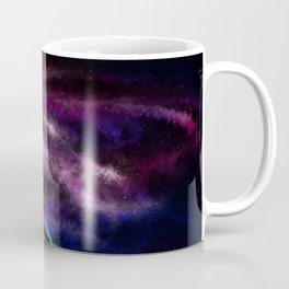 Neon Space Tigers Coffee Mug