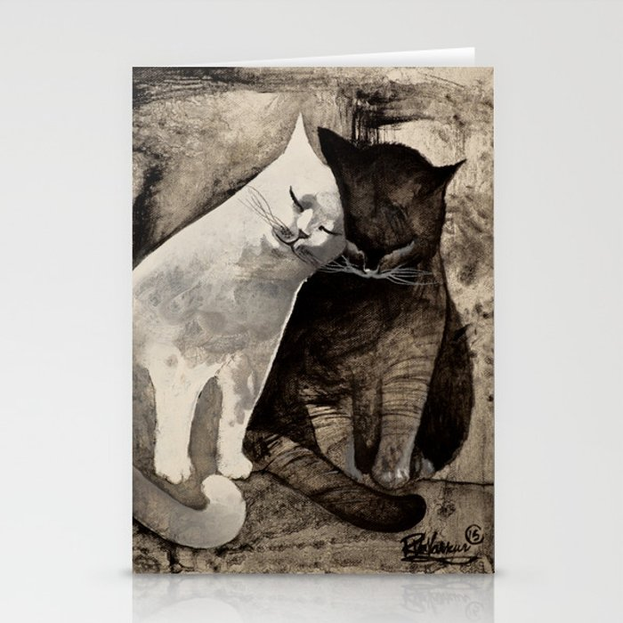 MORNING KISS by Raphaël Vavasseur Stationery Cards