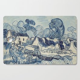 """Vincent van Gogh """"Landscape with Houses"""" Cutting Board"""