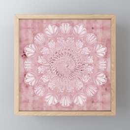 flower, seed of life, mandala, nature, energetic, romantic, psychedelic Framed Mini Art Print