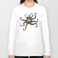 octopus Long Sleeve T-shirts featuring octopus by Manoou